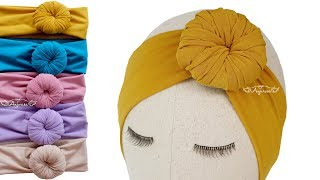 Bun Headband For Babies - Donut Turban - Donut Headband DIY