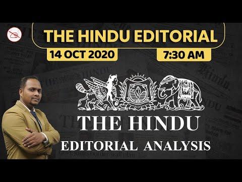 The Hindu Editorial Analysis | 14 Oct 2020 | By Ajeet Mahendras | Bank, SSC, UPSC | 7:30 AM