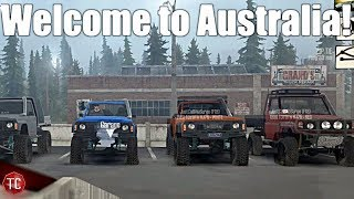 SpinTires MudRunner: Welcome To AUSTRALIA!?! Multiplayer Trail Riding!