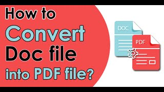 HOW TO CONVERT WORD DOCUMENT INTO PDF FORMAT
