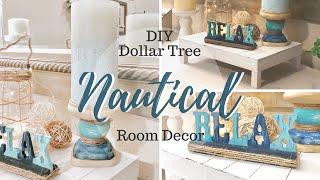 DIY DOLLAR TREE NAUTICAL ROOM DECOR