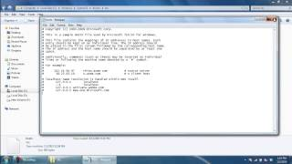 How to Access HOSTS file in Windows 7