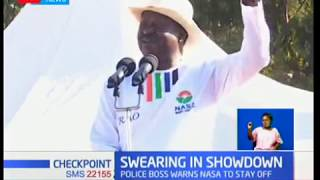 Swearing in Showdown:Japheth koome has banned any activity at Uhuru Park on Tuesday