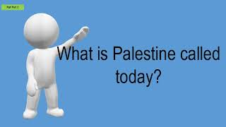 What Is Palestine Called Today?