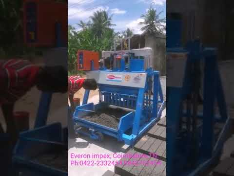 Semi automatic solid block making machine