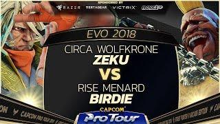 Circa Wolfkrone (Zeku) vs RISE MenaRD (Birdie) - EVO 2018 - Day 2 Pools - SFV - CPT 2018