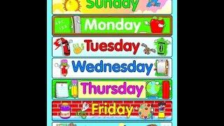 Английский детям. Дни недели на английском языке. Days of the week.