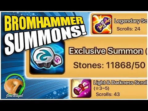 SUMMONERS WAR : Bromhammer Summons! 11,000+ stones, 30+ leg, 50+ LD