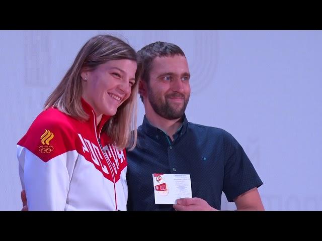 Чемпионка России вручила значки ГТО ангарчанам