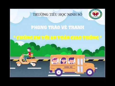 Học sinh Trường TH Ninh Sở hào hứng tham gia thi vẽ tranh hưởng ứng tháng ATGT