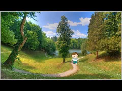 Мальчик идёт по тропинке. Моя вторая анимация.
