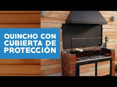 ¿Cómo hacer un quincho con cubierta de protección?