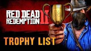 Red Dead Redemption 2 - Trophy List Leaked