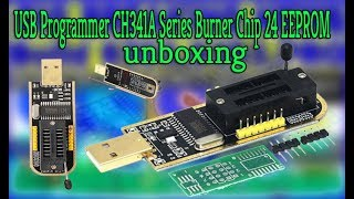 Usb Programmer Ch341a Series 24 25 Spi Flash Board Unboxing &  Software Download