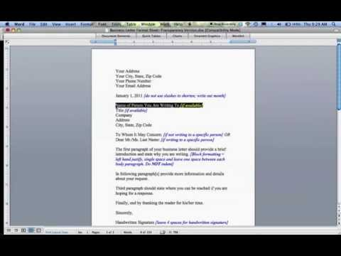 How to Write a Business Letter