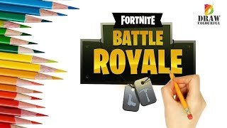how to draw fortnite battle royale logo - how to draw fortnite logo