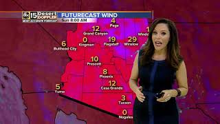 Cooler weather expected for Sunday