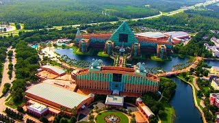 [4K] Walt Disney World Swan & Dolphin Resort | Disney Deluxe Resort Hotels