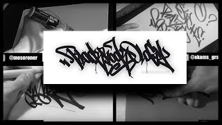 QUADRUPLE HANDSTYLES EPISODE 3 | Graffiti | Blackbookology