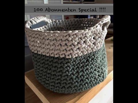100 Abo Special: Körbe / Korb häkeln aus Zpagetti Textilgarn