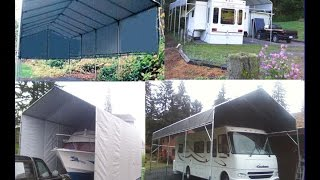 How to Build a RV Portable Carport Shelter 4 Less (Free eBook)
