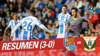 Resumen de Real Sociedad vs CD Leganés (3-0)