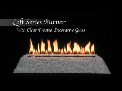 Loft Series Burner with Clear Frosted Decorative Glass by Empire Comfort Systems