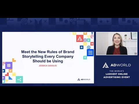 The New Rules of Brand Storytelling Keynote: Jessica Gioglio, Author, The Laws of Brand Storytelling