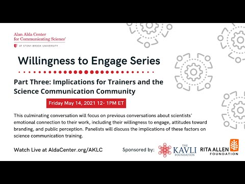 Willingness to Engage, Part 3: Implications for Trainers and the SciComm Community