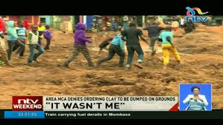 Outrage as contractors use Laini saba playground in Kibera as dumpsite