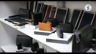 """Бумажник мужской кожаны LAS FERO 100х140х20 застёжка кнопка м Л42-190Акор от компании Производственно-торговое предприятие """"BAGS"""" - видео"""