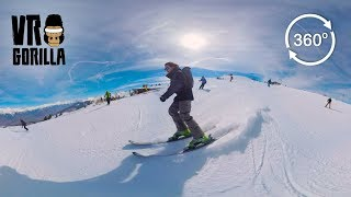 Ski & Snowboard Fun in Switzerland - Quatre Vallees (360 Video)