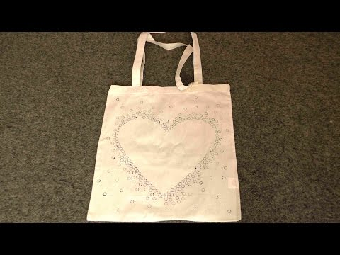 DIY Bag, Jutebeutel, Baumwolltasche gestalten / Technik zum Gestalten von T-Shirts, Tops, Taschen