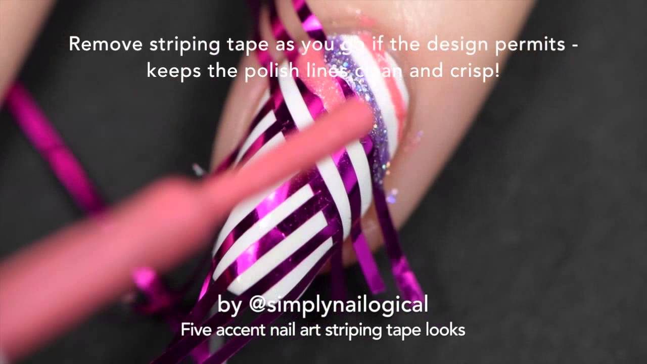 Easy striping tape nail art ideas thumbnail