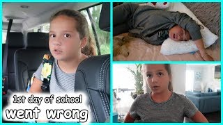 Our first day of school went wrong  SISTERFOREVERVLOGS #565
