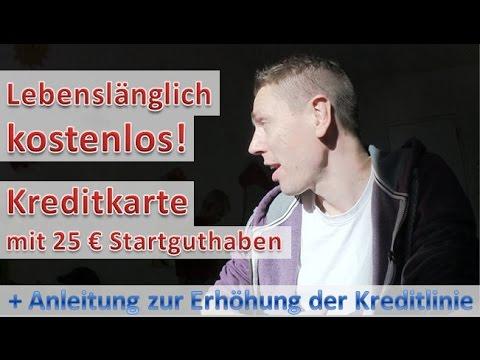 Lebenslang kostenlose Kreditkarte + 25 Euro Startguthaben