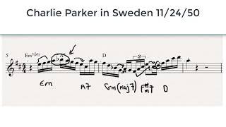Charlie Parker: Line from Embraceable You - Sweden 1950