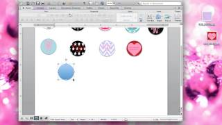 How To Create Your Own Bottle Cap Images On Microsoft Word. On Macbook