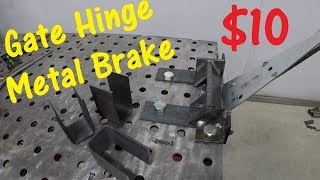 $10 DIY Metal Bending Brake Using A Gate Hinge
