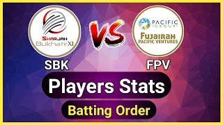 SBK vs FPV | Emirates D10 League | SBK vs FPV Player Stats | SBK vs FPV Dream11
