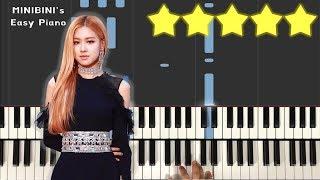 BLACKPINK ROSÉ - EYES CLOSED (Halsey Cover)《MINIBINI EASY PIANO ♪》 ★★★★★