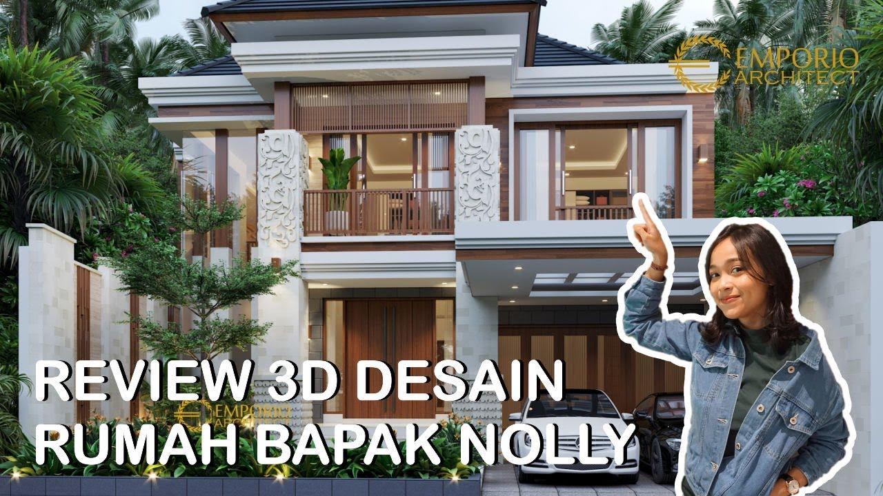 Video 3D Desain Rumah Villa Bali 2 Lantai Bapak Nolly di Banyuwangi
