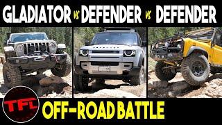 Jeep Gladiator Vs Land Rover Defender Vs Classic Defender Vs Rock Garden