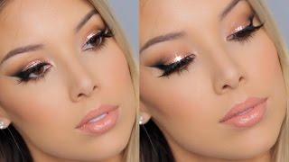Copper Glitter Winged Liner Tutorial | Lustrelux