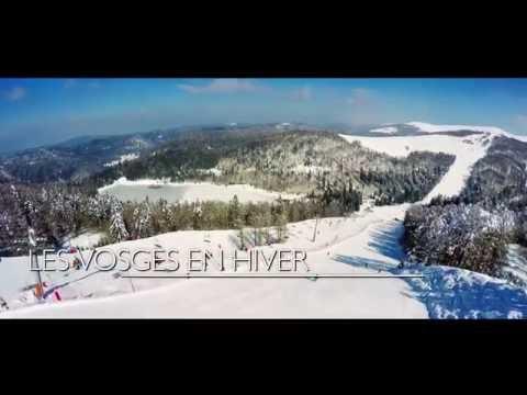 Les Vosges en hiver - vues du ciel