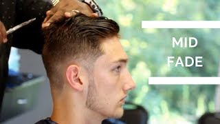 Barber Tutorial Mid Fade Haircut With Textured Top