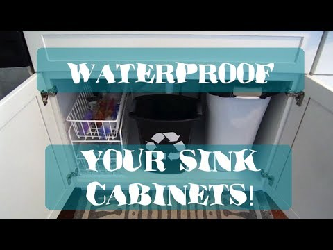 How To: Waterproof Your Sink Cabinets
