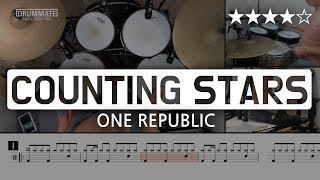 052 | COUNTING STARS - ONE REPUBLIC (★★★★☆) Pop Drum Cover (Score, Lessons, Tutorial) | DRUMMATE