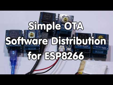 ESP8266 Programming Over The Air (OTA) Using Wi-Fi With