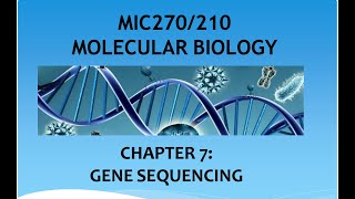Chapter 7  DNA Sequencing Part1